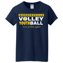 VOLLEY--BALL--WARRENSVILLE-YOUTH-Love-at-first-spike I said what I said Women's 100% Cotton T-Shirts Gildan 5000L