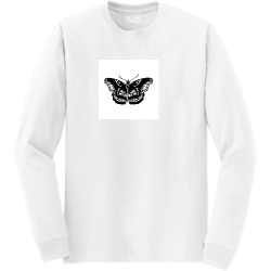 harry's-butterfly  Unisex 50/50 Cotton/Polyester Long Sleeves Gildan 8400