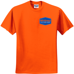 oranget Men's 50/50 Cotton/Polyester T-Shirts Jerzees 29M