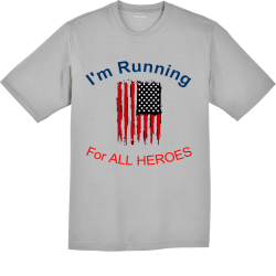 Im-Running-For-ALL-HEROES MHCP Men's 100% Polyester T-Shirts Sport-Tek ST340