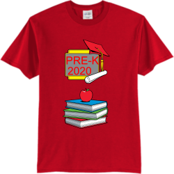 PRE-K Wood vibes Adult 100% Cotton T-Shirts Port And Company PC55