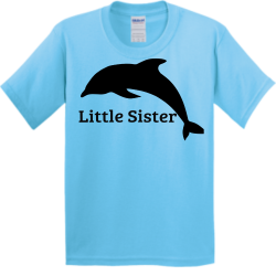 Dolphins Boy's 100% Cotton T-Shirts Gildan 5000B
