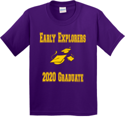 Early-Explorers--2020-Graduate Boy's 100% Cotton T-Shirts Gildan 5000B