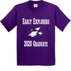 Early-Explorers-2020-Graduate Boy's 100% Cotton T-Shirts Gildan 5000B