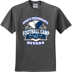 FOOTBALL-CAMP-Nate-Jacks-2020-NEVADA-SPORTS-PERFORMANCE DRAMMIE 5.29.20 does 40 Men's 50/50 Cotton/Polyester T-Shirts Jerzees 29M